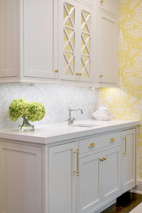 honed marble herringbone tiles with