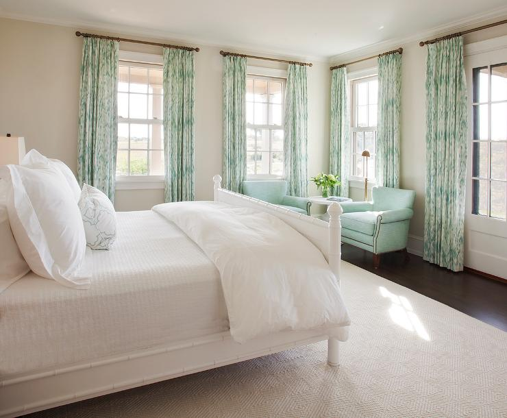 White And Mint Green Bedroom Colors Cottage Bedroom