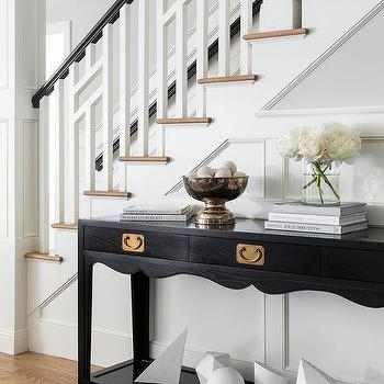 White Staircase Spindles Design Ideas | Black Banister White Spindles | Black Railing | Funky | Victorian | Iron Spindle White Catwalk Brown Railing | White Mahogany Hand Rail Oak