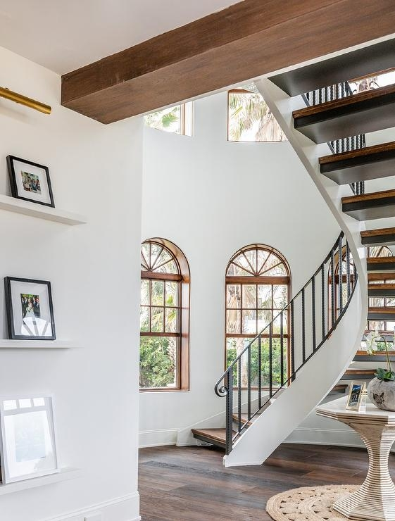 Spiral Staircase With Wrought Iron Handrail And Spindles | Wrought Iron Spiral Staircase | Wood | Gothic | Small | Mezzanine | Internal