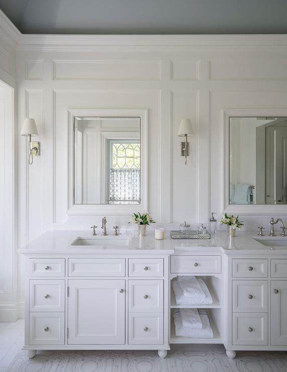 White Custom Bath Vanity Design Ideas