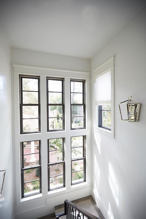 Stacked Staircase Windows Design Ideas | Modern Staircase Window Design | Architecture | Small House Stair | Section Window | Elegant | Wooden