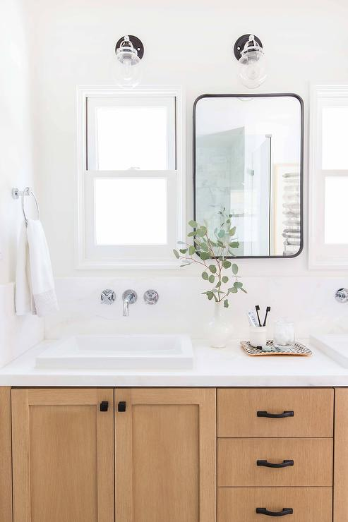 Matte Black Bath Vanity Hardware Design Ideas
