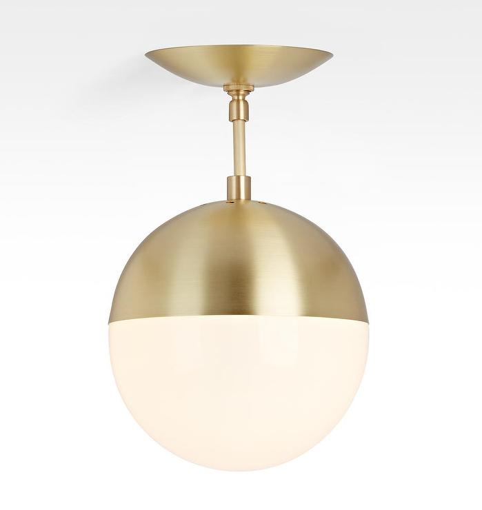 cedar moss brass globe semi flush mount