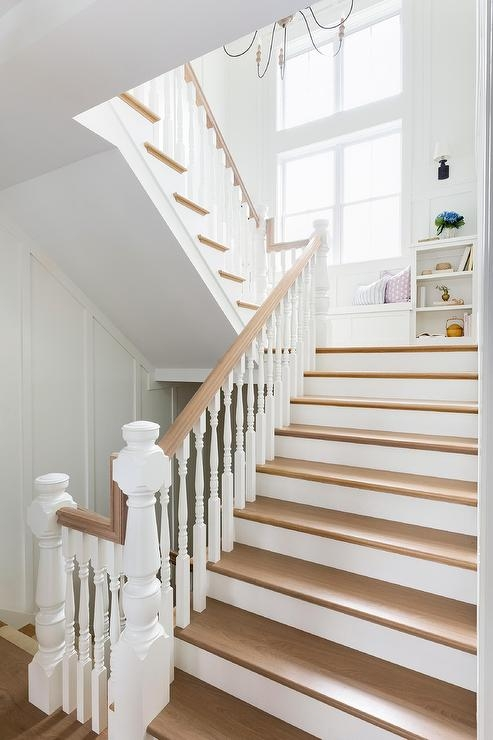 White Staircase Spindles Design Ideas   White Handrails For Stairs Interior   Indoor   House   Exterior   Spiral   White Metal