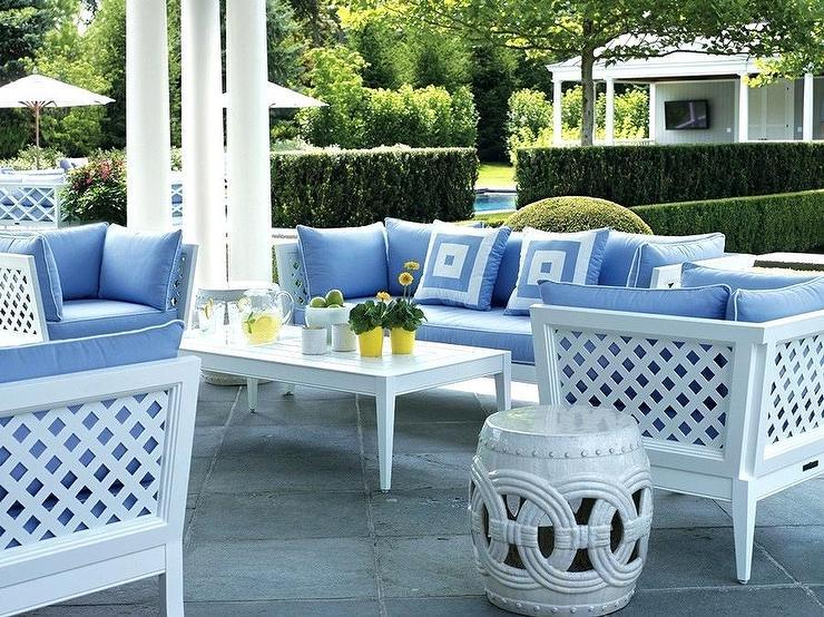 white lattice patio chairs design ideas