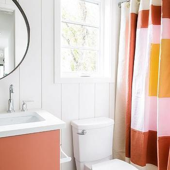 ugg russel natural striped shower curtain