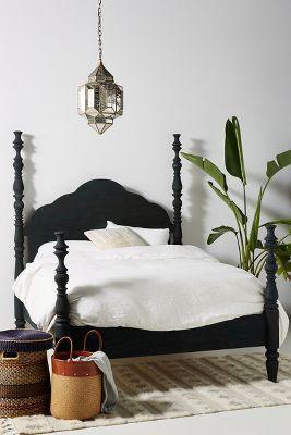 rosalie indigo turned 4 poster bed