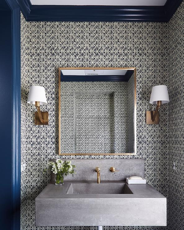 wall mount powder room faucet design ideas