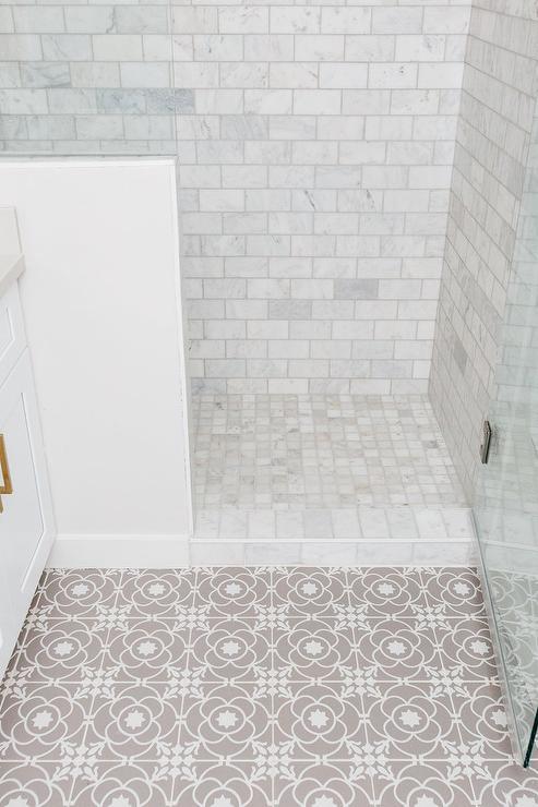 white and gray shower tiles design ideas