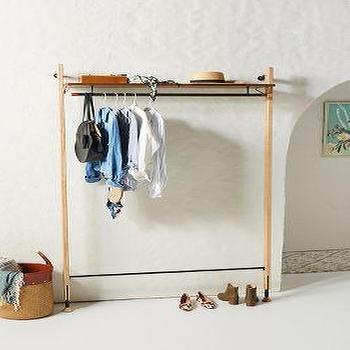 argus wood metal clothing rack