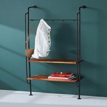 boulevard black iron marble base coat rack