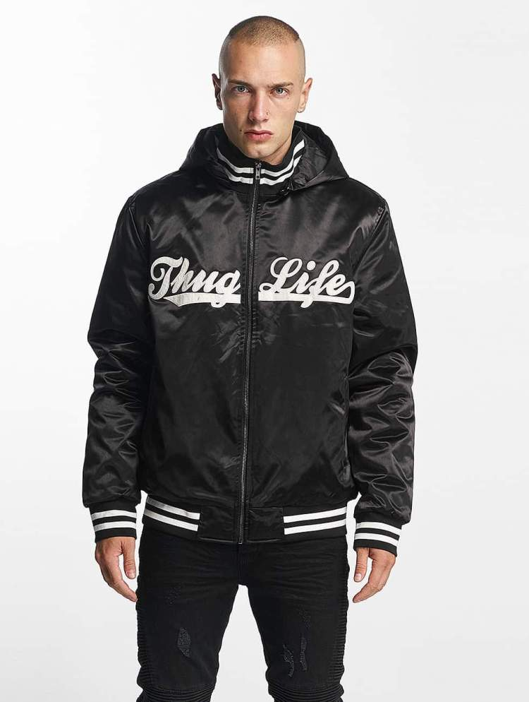 Thug Life Männer Bomberjacke New York in schwarz