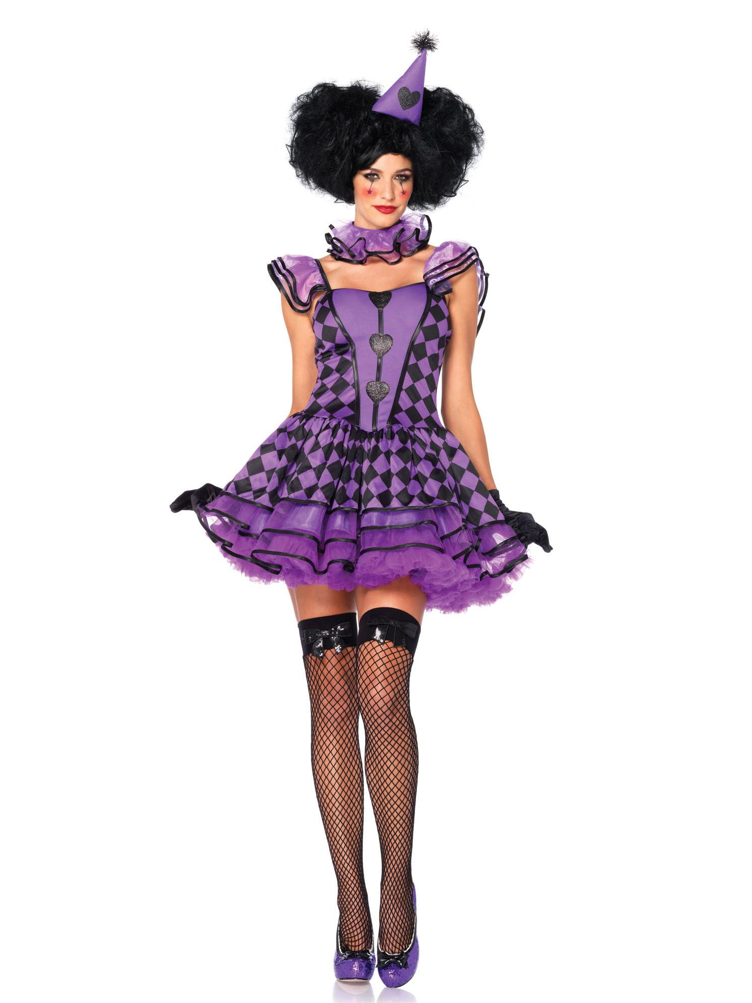 Dguisement arlequin violet sexy femme  Deguisetoi