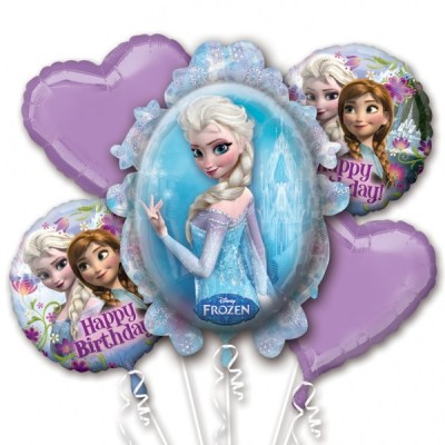 Un bouquet de ballons Reine des neiges pour décorer votre anniversaire
