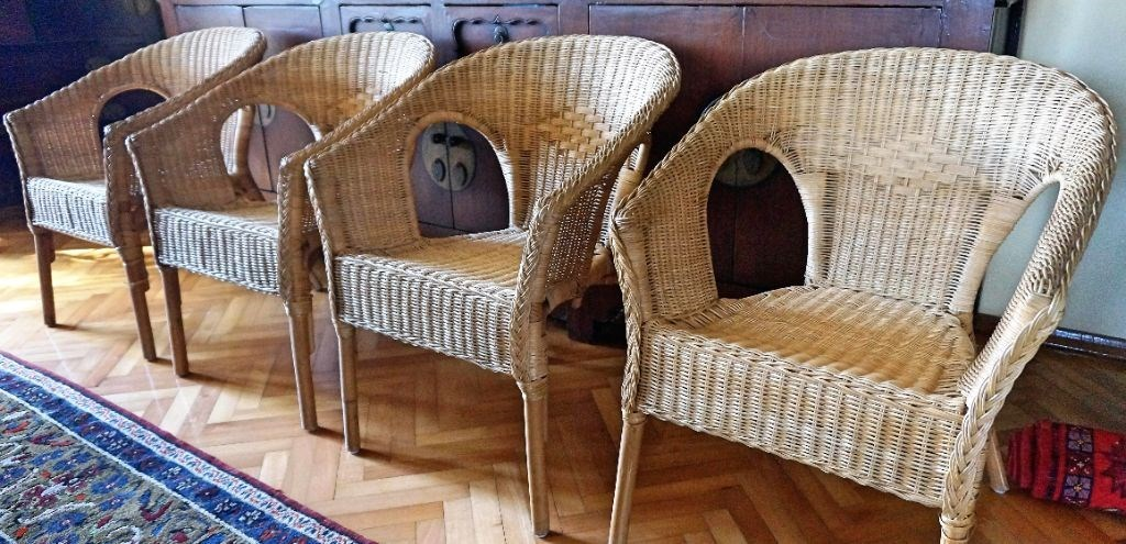 Aluminyum Bambu Rattan Sandalye