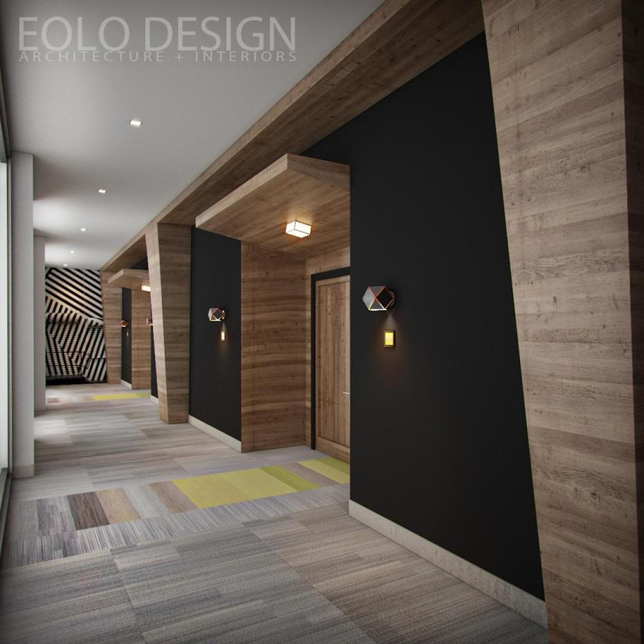 Four Points Miami Airport Hotel Hallway By Eolo AampI Design
