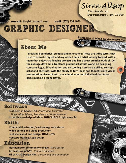 52 Fresh And Really Creative Resume Designs From 2011