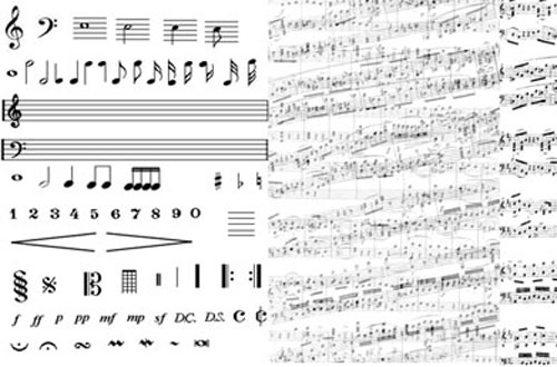 A Free Collection Of Music Note Brushes For Photoshop