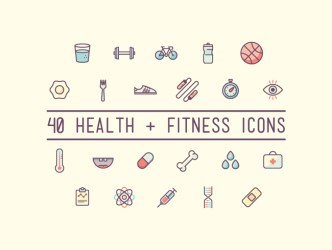 40 Free Health and Fitness Icons AI EPS SVG PNG Designbeep