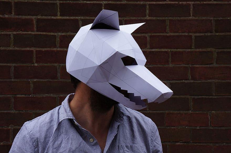 10 Diy Print At Home Geometric Paper Masks Designbump