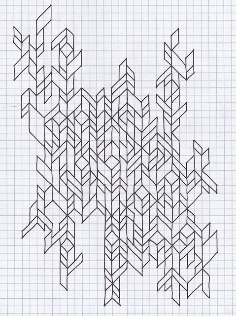 shapes on graph paper