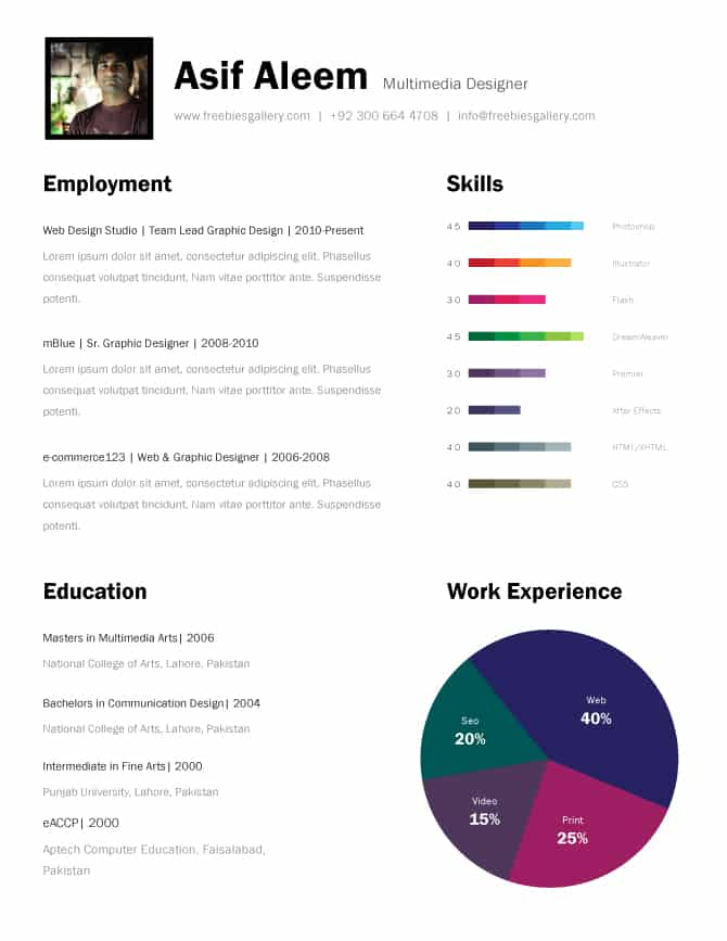 free infographic resume template download