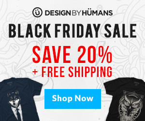 Design By Humans Black Friday & Cyber Monday Promotions