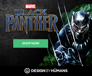 Shop Marvel Black Panther apparel at DesignByHumans.com.