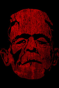 Bloody Halloween Frankenstein Tees and Shirts
