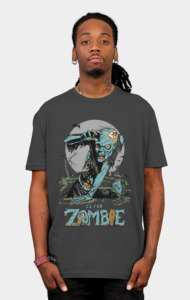 "Somewhere in the the world right now a Zombie is tasting brains for the first time. Ughh, Brains... Braaaaaiiiinnns!!! ""Z is for Zombie"". This artwork of the Zed kind is a beautiful merger of subtle graphic design with a 1960's comic book style."