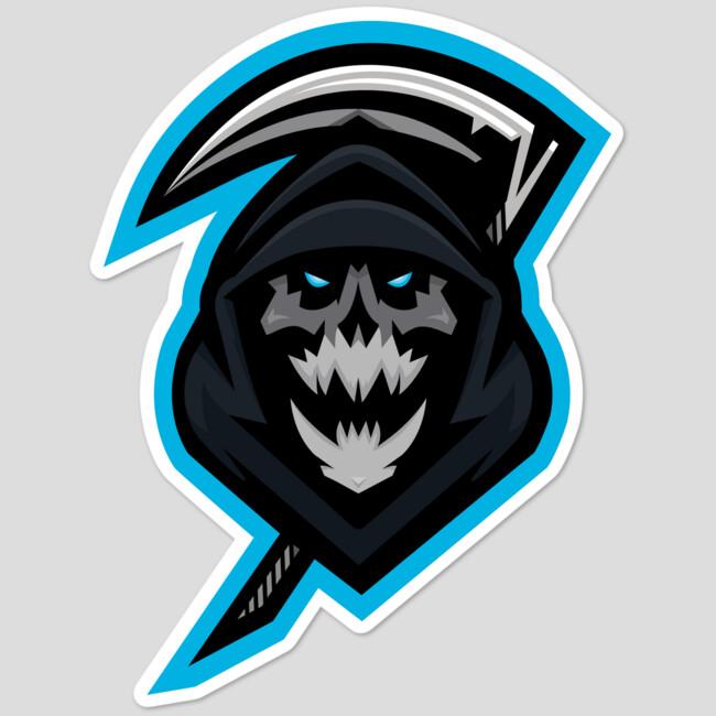 infamous gaming skull logo