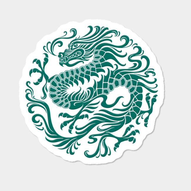 traditional teal blue chinese
