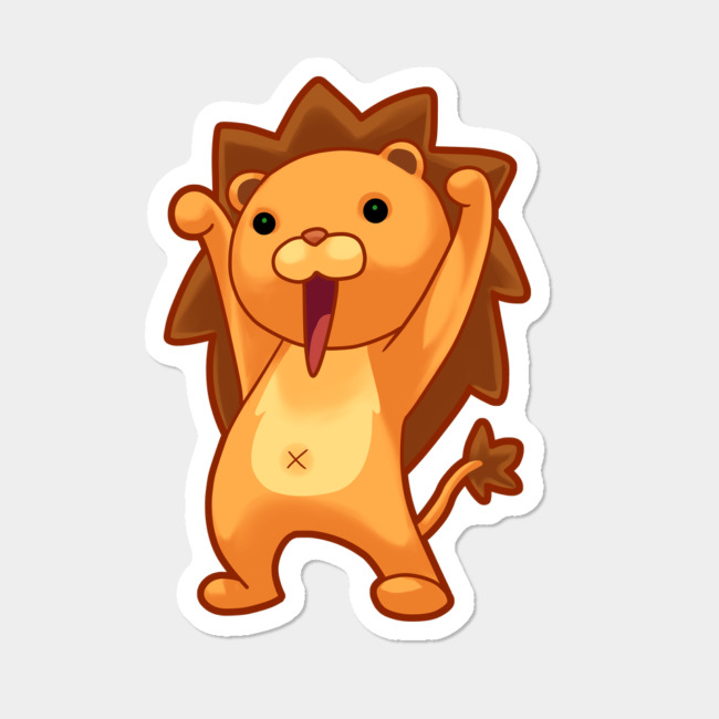 chibi lion sticker by