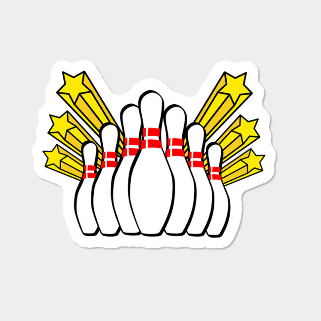 bowling pins sticker by