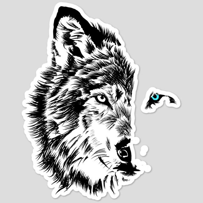 new wolf sticker by
