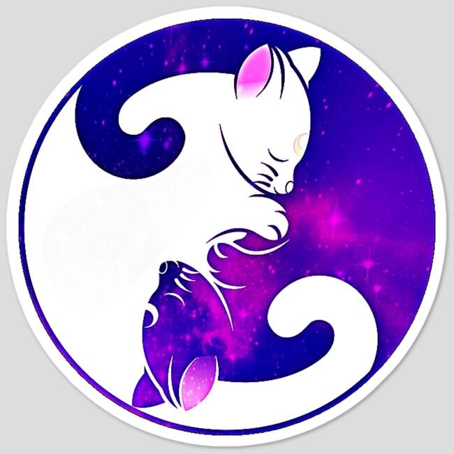 yin yang galaxy cats