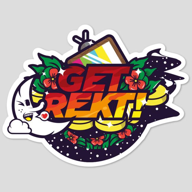 get rekt sticker by