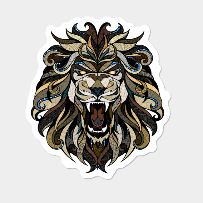 angry lion sticker by