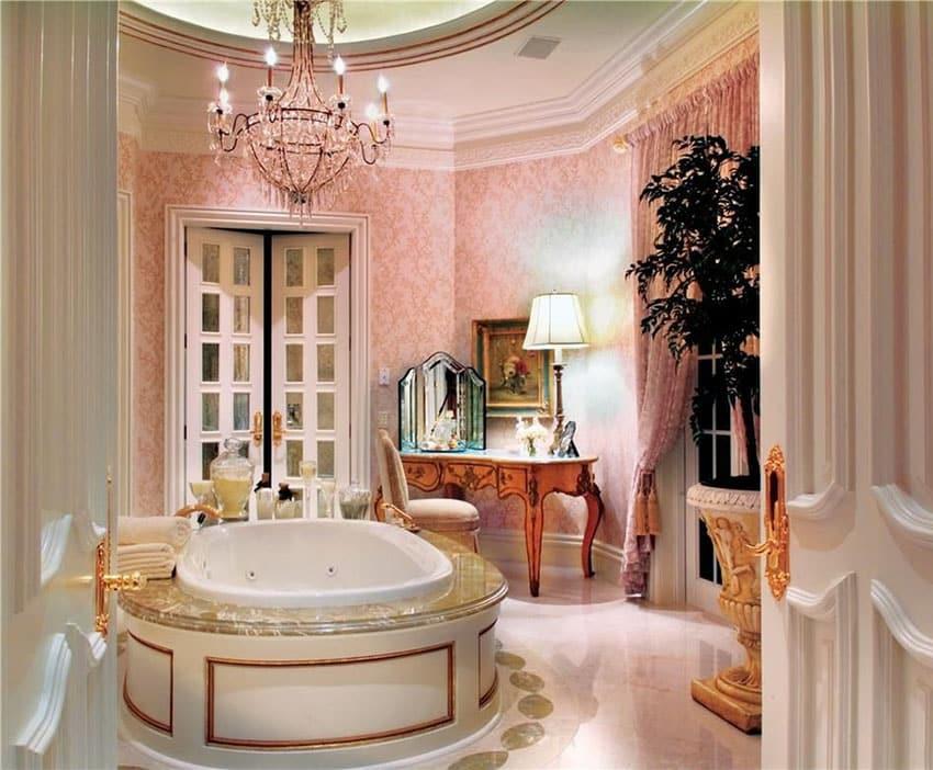 27 Gorgeous Bathroom Chandelier Ideas