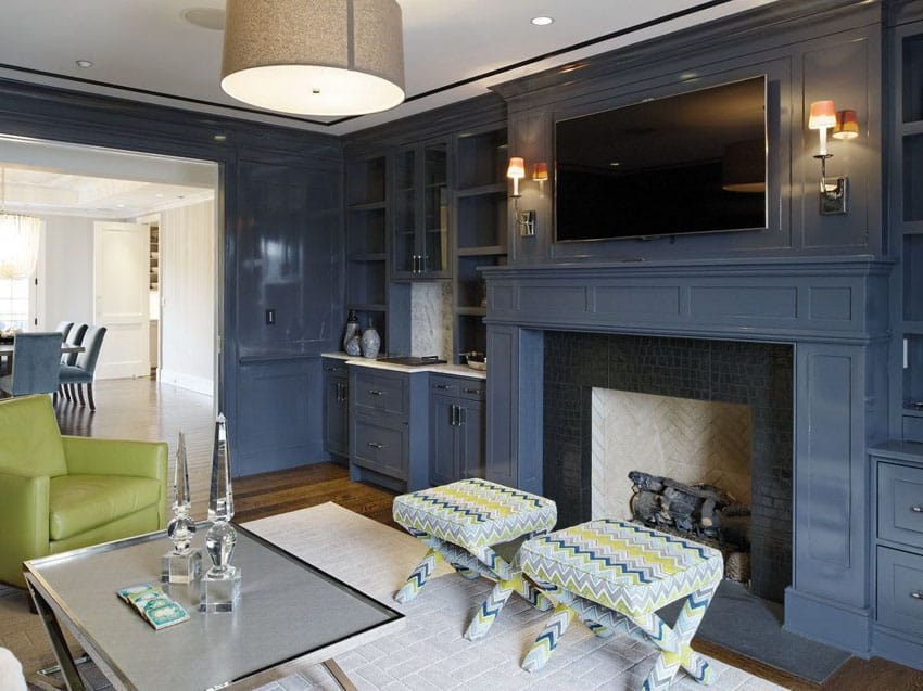 nice colors for living room walls hutches 26 blue ideas (interior design pictures ...