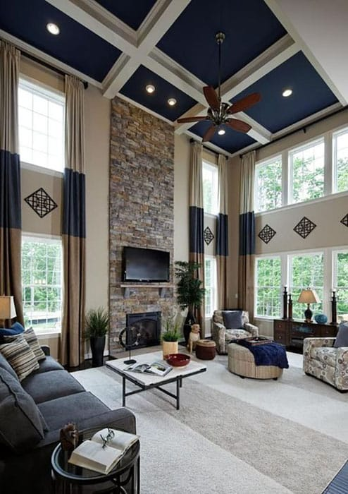 living room color schemes black leather couch 2 modern wooden sofa designs for 26 blue ideas (interior design pictures ...