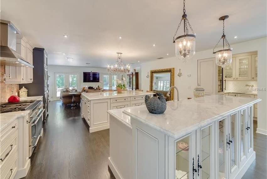 narrow kitchen countertops primal bars 27 amazing double island kitchens (design ideas ...