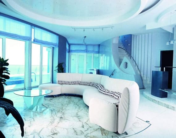 Salon Oriental Moderne Blanc