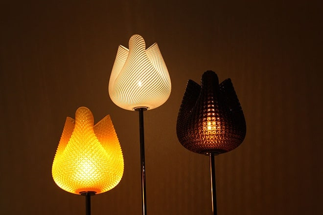 Tulip lamp designed by Peter Jansen