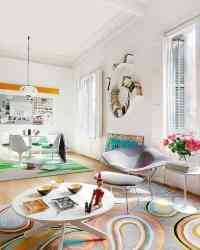 Apartment with Colorful Interior Design in Barcelona