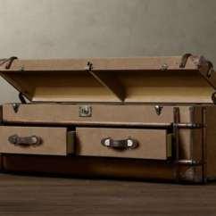 Best Steamer For Sofa Aqua Blue Bed A Vintage English Trunk By Restoration Hardware