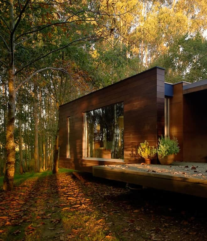 Wood House Concept Harmony With Nature