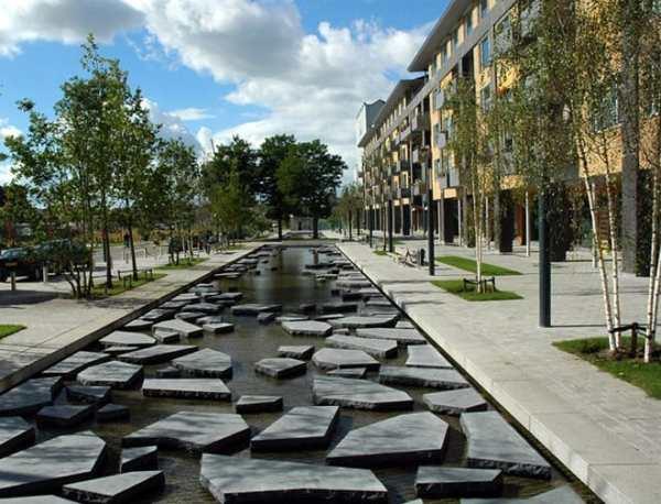 unusual city center pedestrian
