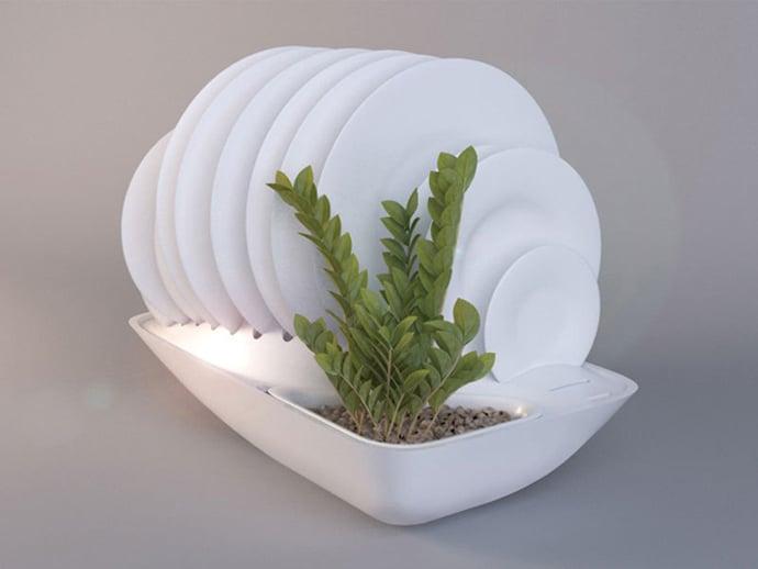 fluidity planter dish rack designlibero